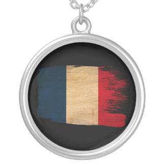 France Flag Round Pendant Necklace