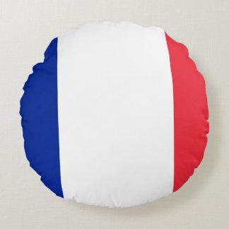 France Flag Round Pillow