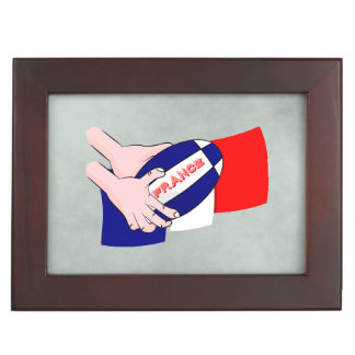 France Flag Rugby Ball Cartoon Hands Memory Boxes