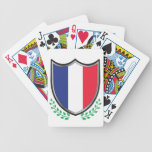France Flag Shield w/ Laurels Playing Cards