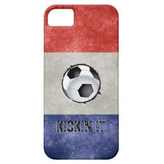 France Flag Soccer Ball Kicking it iPhone SE/5/5s Case