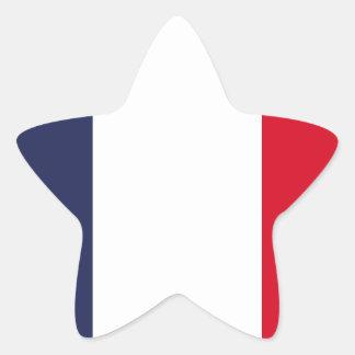 France flag star sticker