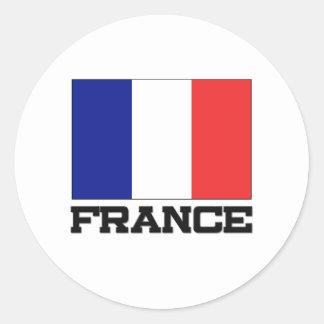 France Flag Classic Round Sticker