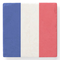 France Flag Stone Coaster