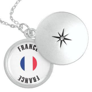 France Flag Wheel Locket Necklace