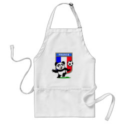 Apron with France Football Panda design