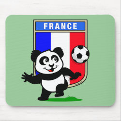 Mousepad with France Football Panda design