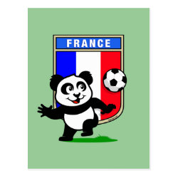 Postcard with France Football Panda design