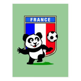 France Football Panda Postcard