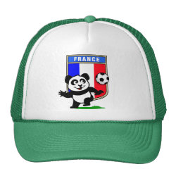 Trucker Hat with France Football Panda design
