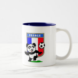 Two-Tone Mug with France Football Panda design