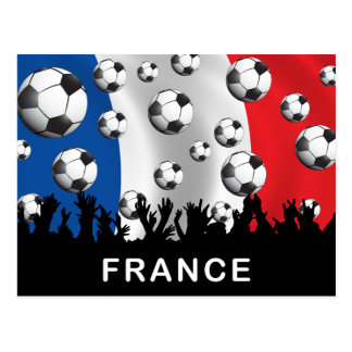 France Football Postcard