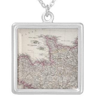 France, four leaves, leaf 1 square pendant necklace