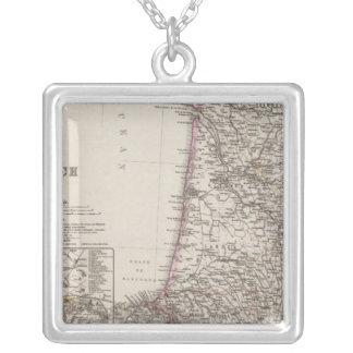 France, four leaves, leaf 3 square pendant necklace