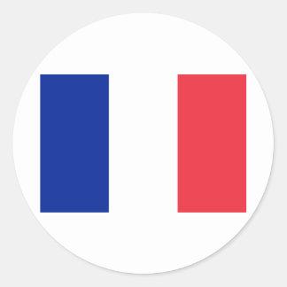 France FR Classic Round Sticker
