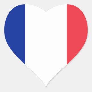 France FR Heart Sticker