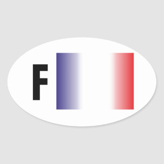 France - France adhesive Oval Sticker