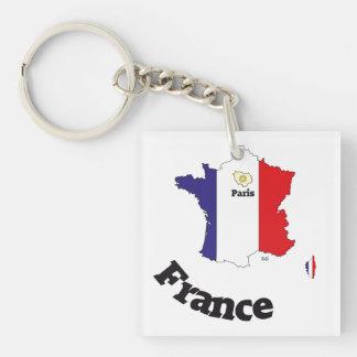 France France Francia key supporter Square Acrylic Key Chain