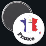 """France France Francia of magnets<br><div class=""""desc"""">Why only always blue,  knows and red. Here a very special France flag execution.  Simply which for all would like to have the something unusual.</div>"""