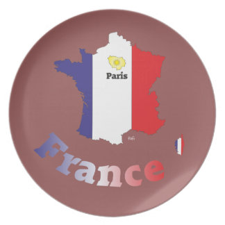France France Francia plate