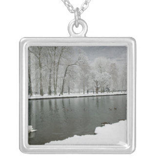 FRANCE, French Alps (Isere), VIZILLE: Chateau de 2 Silver Plated Necklace
