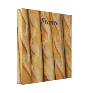France - French Bread Gallery Wrap Canvas