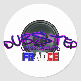 France French DUBSTEP Round Stickers