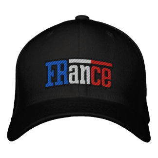 France French flag Francaise Embroidered cap