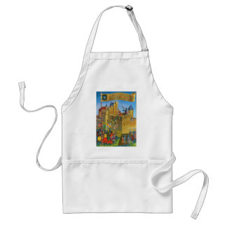 France French vintage Medieval Carcassonne Apron
