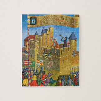 France, French vintage Medieval Carcassonne Jigsaw Puzzle