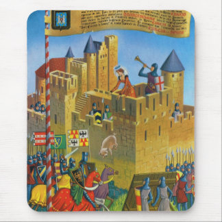 France, French vintage Medieval Carcassonne Mouse Pad