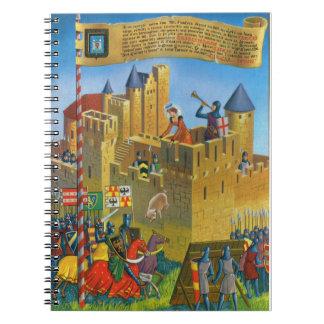 France, French vintage Medieval Carcassonne Notebook