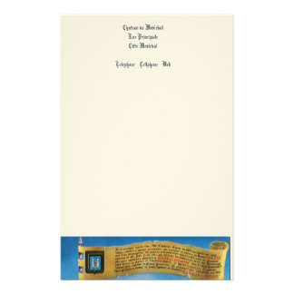 France, French vintage Medieval Carcassonne Stationery