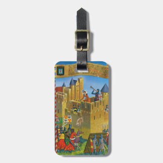 France, French vintage Medieval Carcassonne Travel Bag Tags