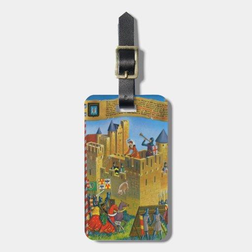 france french vintage medieval carcassonne travel bag tags zazzle. Black Bedroom Furniture Sets. Home Design Ideas