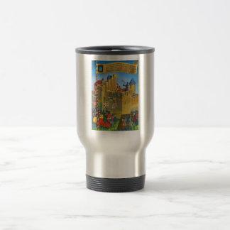 France, French vintage Medieval Carcassonne Travel Mug