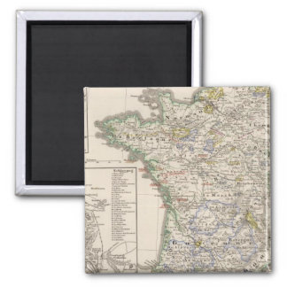 France from 1461 to 1610 2 inch square magnet