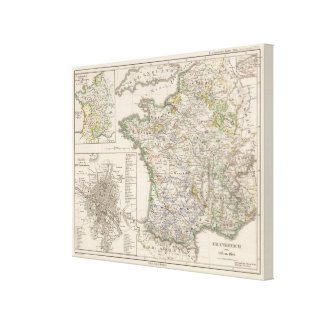 France from 1461 to 1610 canvas print