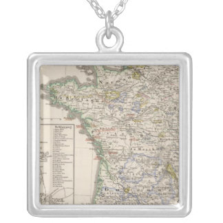 France from 1461 to 1610 square pendant necklace