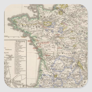 France from 1461 to 1610 square sticker