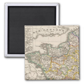 France from 1610 to 1790 2 inch square magnet