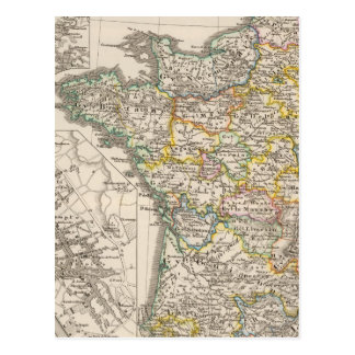 France from 1610 to 1790 postcard