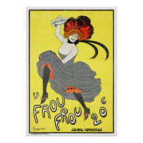 France Frou Vintage Advertising Poster Restored