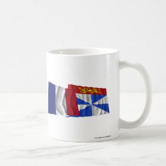 France & Gironde waving flags Coffee Mug