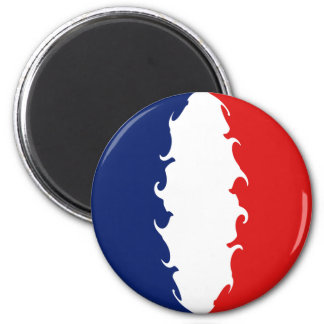 France Gnarly Flag 2 Inch Round Magnet