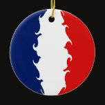 France Gnarly Flag Ceramic Ornament