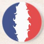 France Gnarly Flag Sandstone Coaster