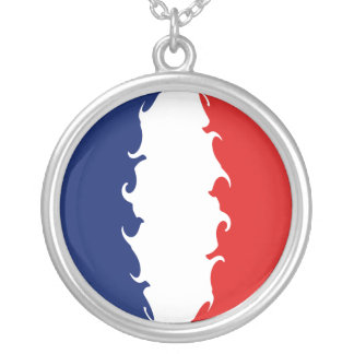 France Gnarly Flag Silver Plated Necklace
