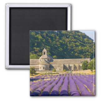 France, Gordes. Cistercian monastery of 2 Inch Square Magnet