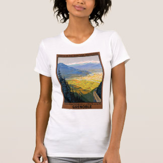 France Grenoble Restored Vintage Travel Poster T-Shirt